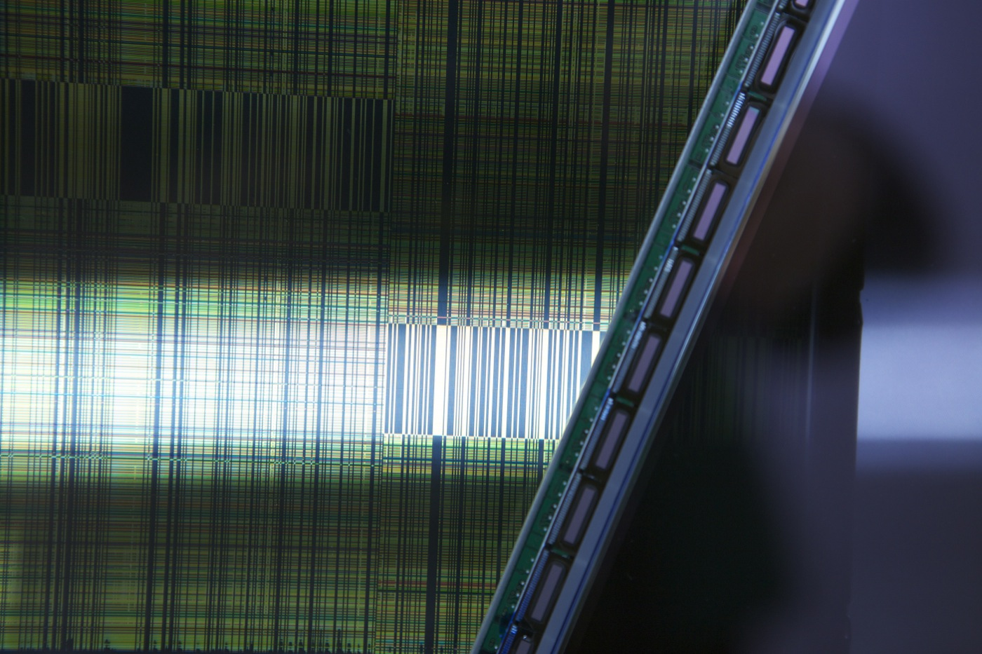 LCD glitch modules, installation detail, photo by jamie allen